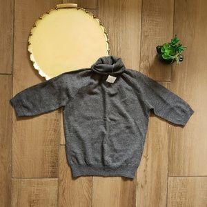 Gap Turtleneck wool gray knit sweater short sleeve